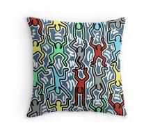 HUMAN - HARING Throw Pillow