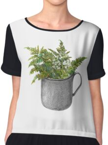 Mug with fern leaves Chiffon Top