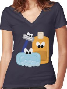 Bath Time Women's Fitted V-Neck T-Shirt