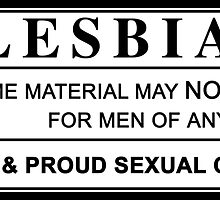 lesbian warning label by chromatosis