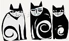 Black and white Cats by Karin Zeller