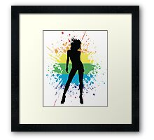 prideful woman Framed Print