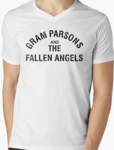 Gram Parsons and the Fallen Angels (black - distressed) Mens V-Neck T-Shirt
