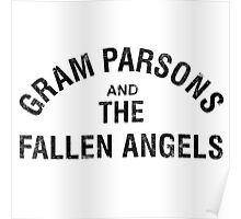 Gram Parsons and the Fallen Angels (black - distressed) Poster