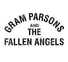 Gram Parsons and the Fallen Angels (black - distressed) Photographic Print