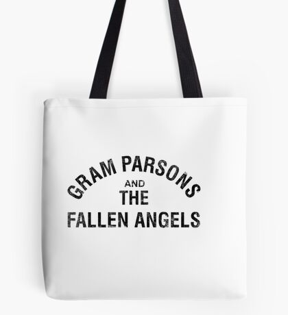 Gram Parsons and the Fallen Angels (black - distressed) Tote Bag
