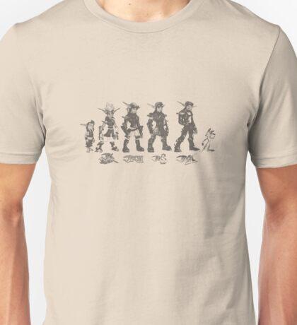 Jak and Daxter Saga - Black Sketch Unisex T-Shirt