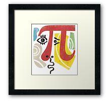 Pi-Casso Pi Symbol Framed Print