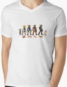 Jak and Daxter Saga - Full Colour Mens V-Neck T-Shirt