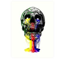 Heartless skull big Art Print
