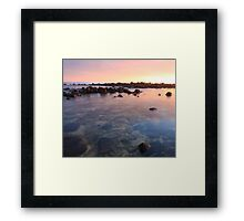 Submerged rocks Framed Print