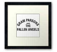 Gram Parsons and the Fallen Angels (black) Framed Print