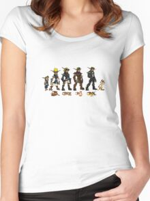 Jak and Daxter Saga - Full Colour Sketched Women's Fitted Scoop T-Shirt