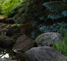 Soft Babble - Miniature Creek Through a Beautifully Landscaped Garden Sticker