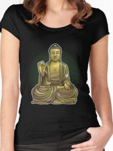 Buddha Statue Women's Fitted Scoop T-Shirt