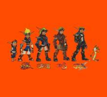 Jak and Daxter Saga - Simplified Colours Kids Tee