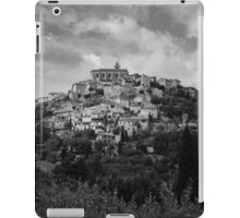 Traditional French hillside village in black and white iPad Case/Skin