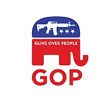 GOP - GUNS OVER PEOPLE Photographic Print
