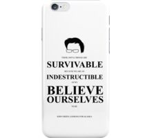 John Green Quote Poster - Awful things are survivable  iPhone Case/Skin