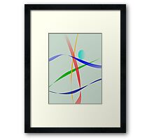 Warm Gray Simple Abstract Design Framed Print