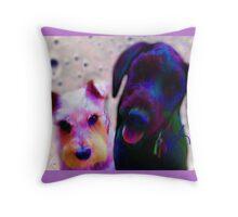 Mia & Eviticus  Throw Pillow