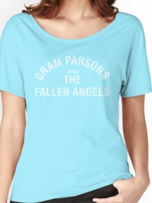 Gram Parsons and the Fallen Angels (white - distressed) Women's Relaxed Fit T-Shirt