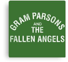 Gram Parsons and the Fallen Angels (white - distressed) Canvas Print