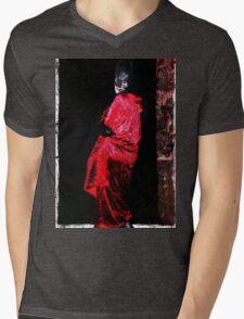 Red Undead Mens V-Neck T-Shirt
