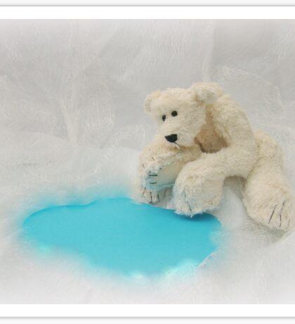 Handmade bears from Teddy Bear Orphans - Peppy Polar Bear Sticker