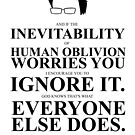 John Green Quote Poster - Inevitability of human oblivion  by Alexandrico