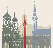 Tallinn skyline poster by paulrommer