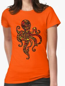 Exotic Octopus Womens Fitted T-Shirt
