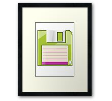 Green Floppy Framed Print