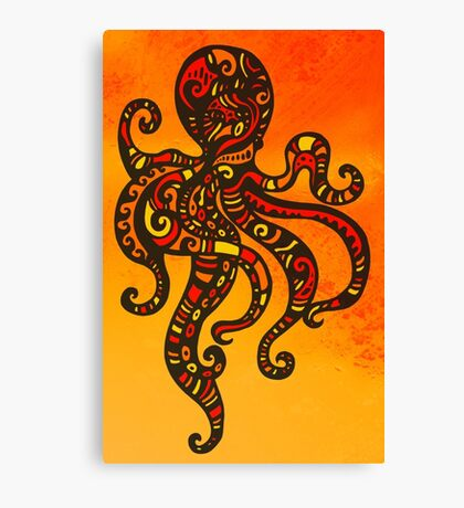 Exotic Octopus Canvas Print