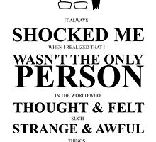 John Green Quote Poster - It always shocked me by Alexandrico