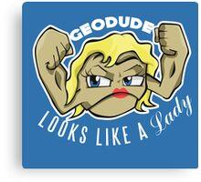 PokéPun - 'Geodude looks like a Lady' Canvas Print