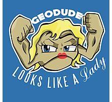 PokéPun - 'Geodude looks like a Lady' Photographic Print