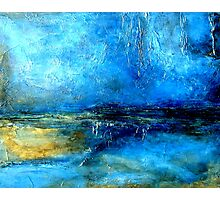 Abstract Landscape Painting DESERT LIGHTNING Photographic Print