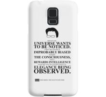 John Green Quote Poster - The Universe Wants to be Noticed  Samsung Galaxy Case/Skin