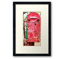 The Ole Postbox Framed Print