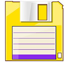 Yellow Floppy Photographic Print