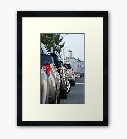 Street parking Framed Print