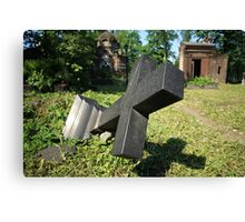 felled grave cross Canvas Print