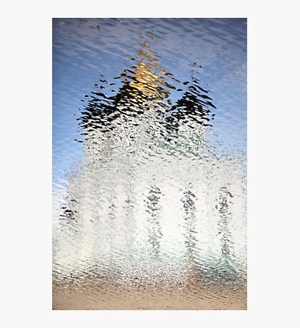 Church of gold reflection ripples Photographic Print