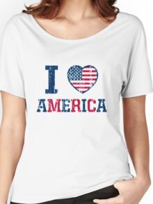 Happy birthday America t-shirt,Us Independece Day-i love America Women's Relaxed Fit T-Shirt