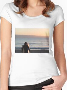 Sunrise lines Women's Fitted Scoop T-Shirt