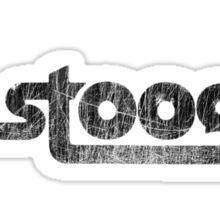 The Stooges (black - distressed) Sticker