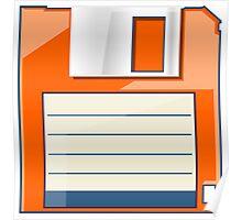 Orange Floppy Poster