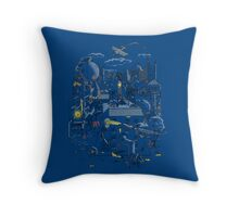 Ode to the City Throw Pillow