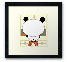 Motivational panda Framed Print